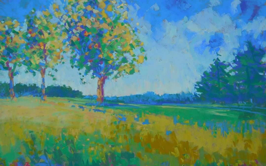 pastel painting plein aire Soft Pastel by Diana Rogers