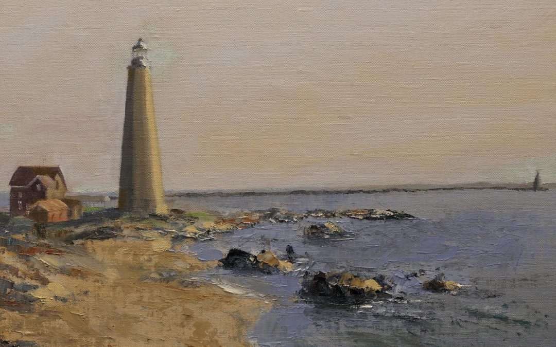 This was the site of a CPAPS Paint Out on November 7, 2020. It was an unusually warm day for this time of year. Oil by Douglas Williams