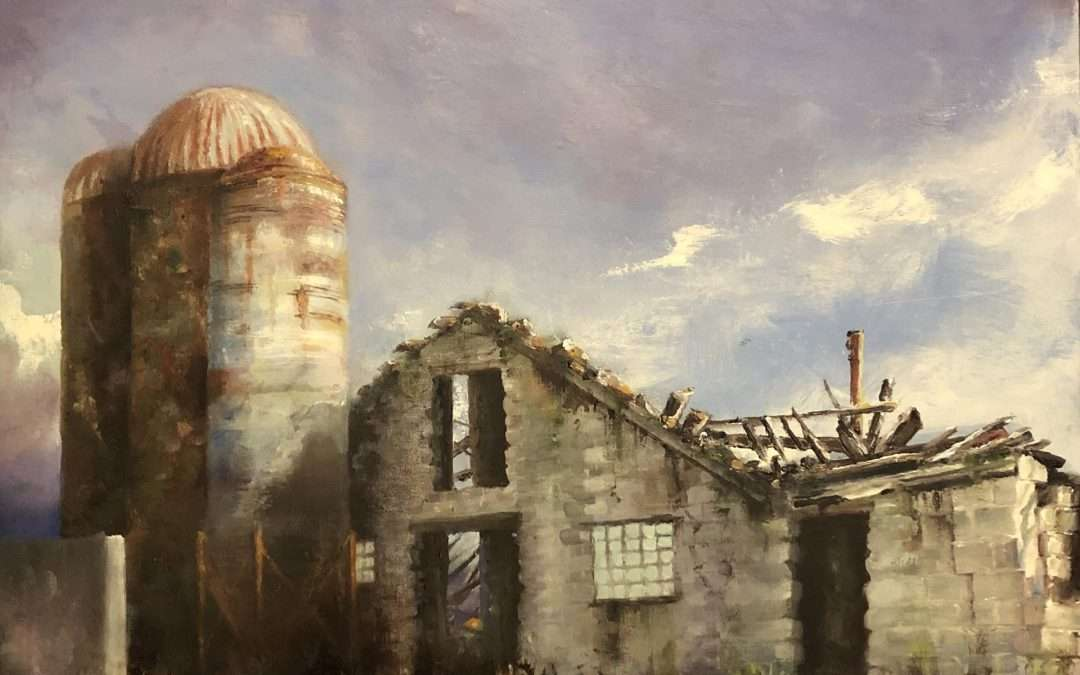 Abandoned agricultural land, UConn properties Oil by George Mattingly